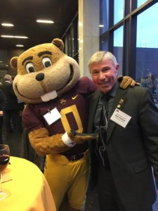 Bob at the State of the State address with Goldy!