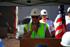 Rep. Dettmer speaks at LILAs roof topping ceremony on Monday, June 2nd.